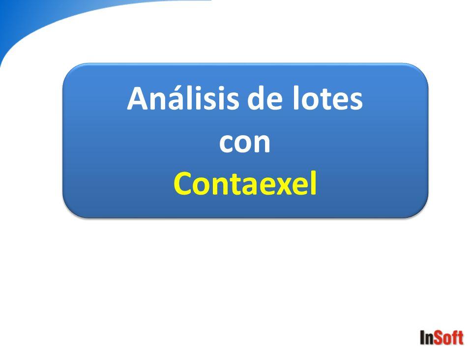 Análisis de lotes con Contaexel