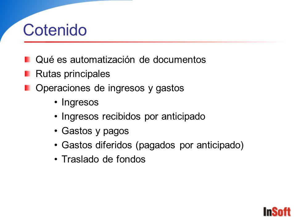 Cotenido Qué es automatización de documentos Rutas principales