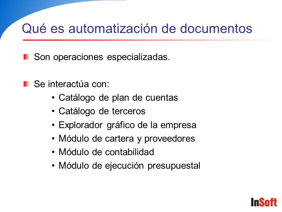 Qué es automatización de documentos