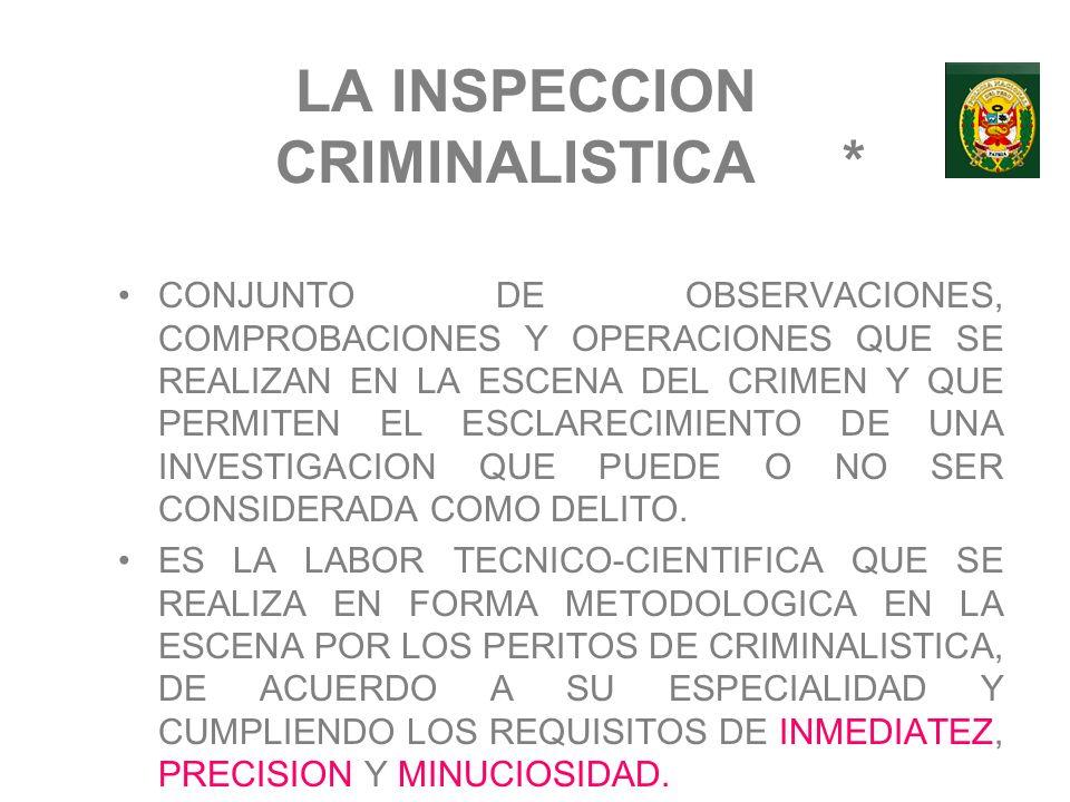 LA INSPECCION CRIMINALISTICA *