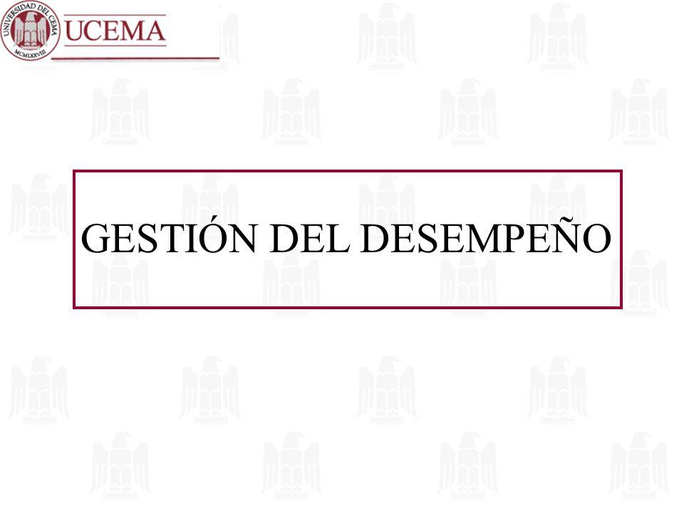 GESTIÓN DEL DESEMPEÑO