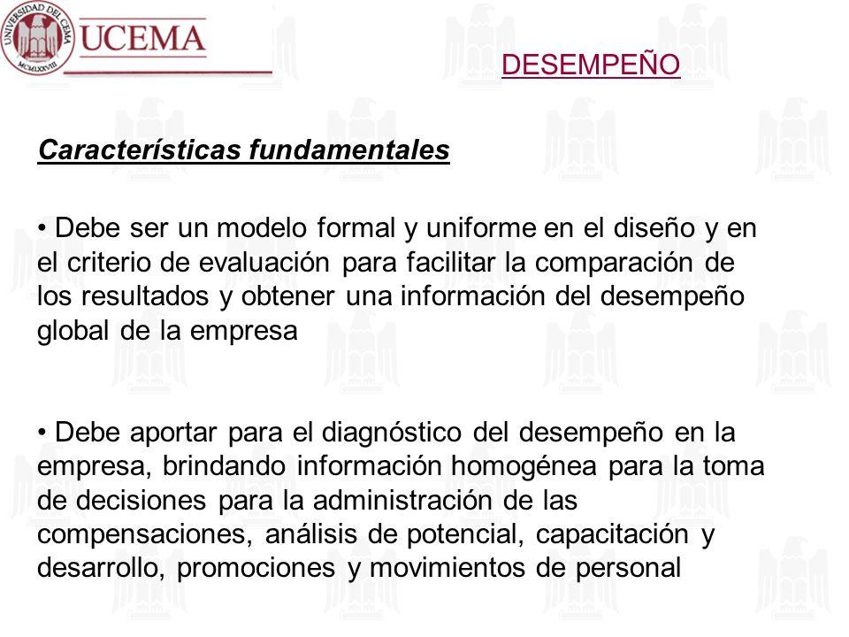 DESEMPEÑO Características fundamentales.