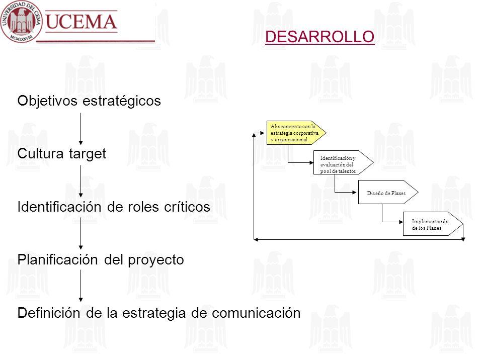 DESARROLLO Objetivos estratégicos Cultura target