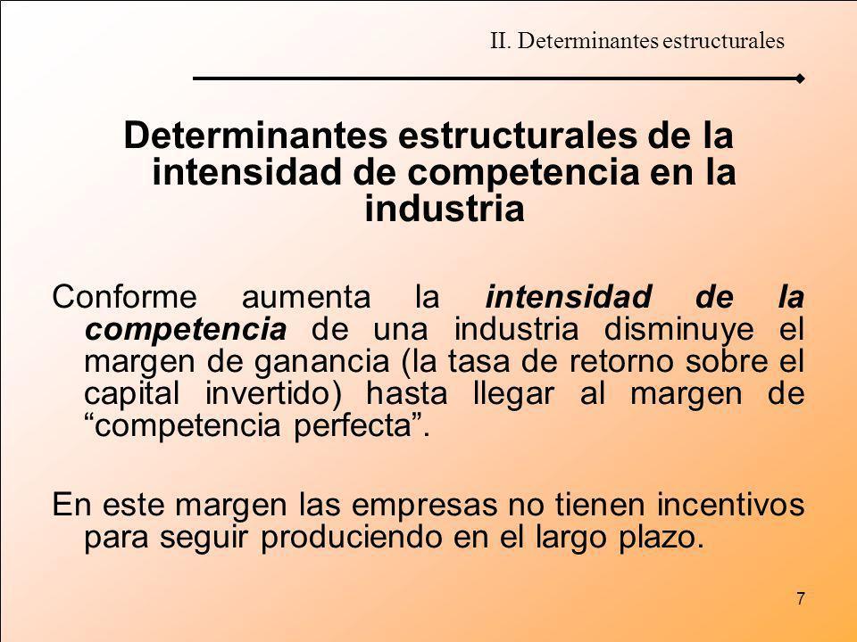 II. Determinantes estructurales