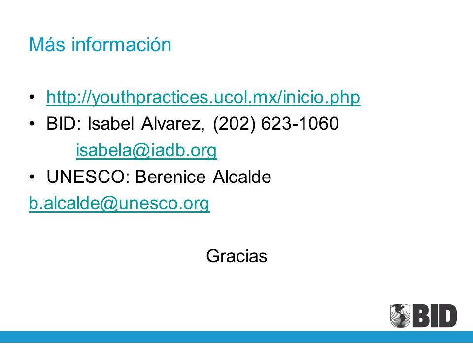 Más información http://youthpractices.ucol.mx/inicio.php