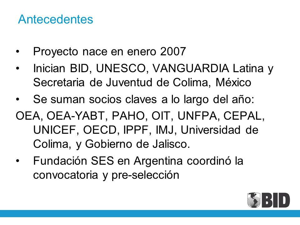 Antecedentes Proyecto nace en enero 2007