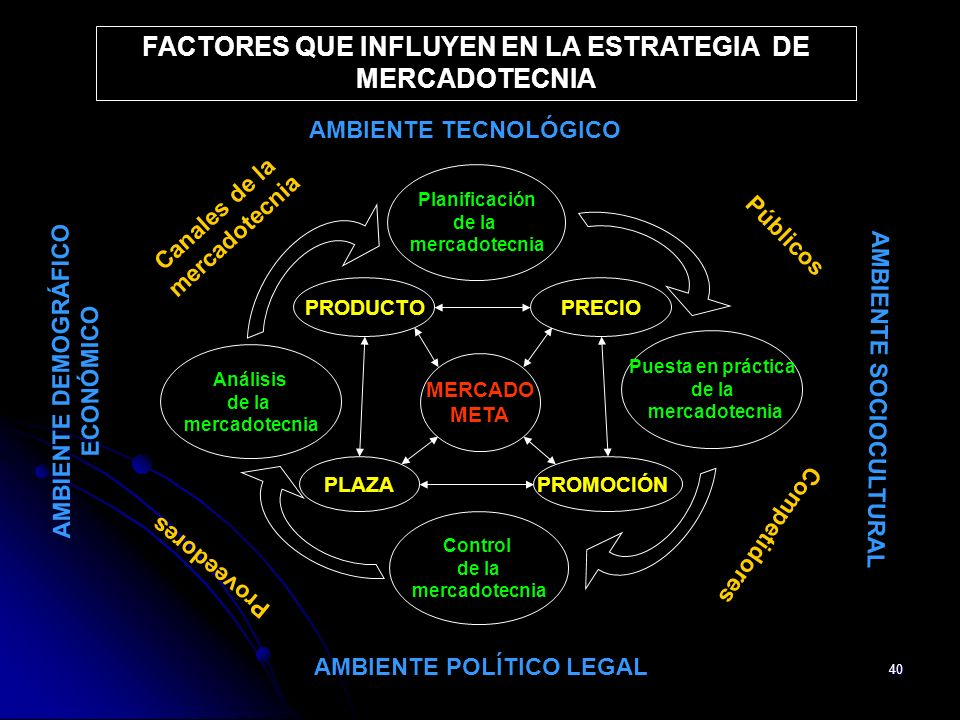 FACTORES QUE INFLUYEN EN LA ESTRATEGIA DE MERCADOTECNIA