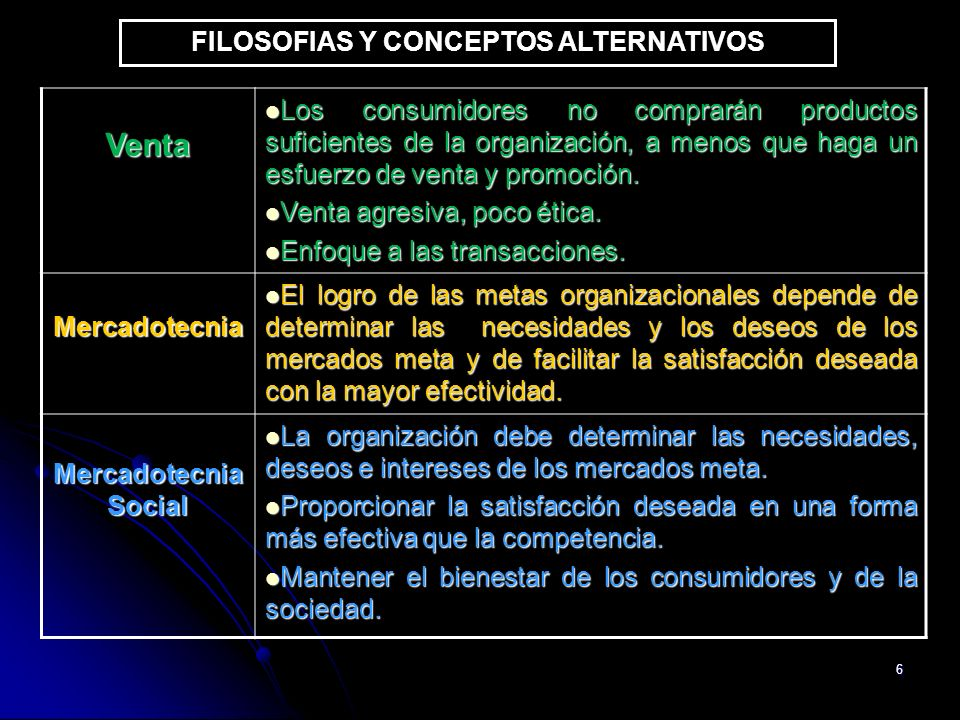 FILOSOFIAS Y CONCEPTOS ALTERNATIVOS