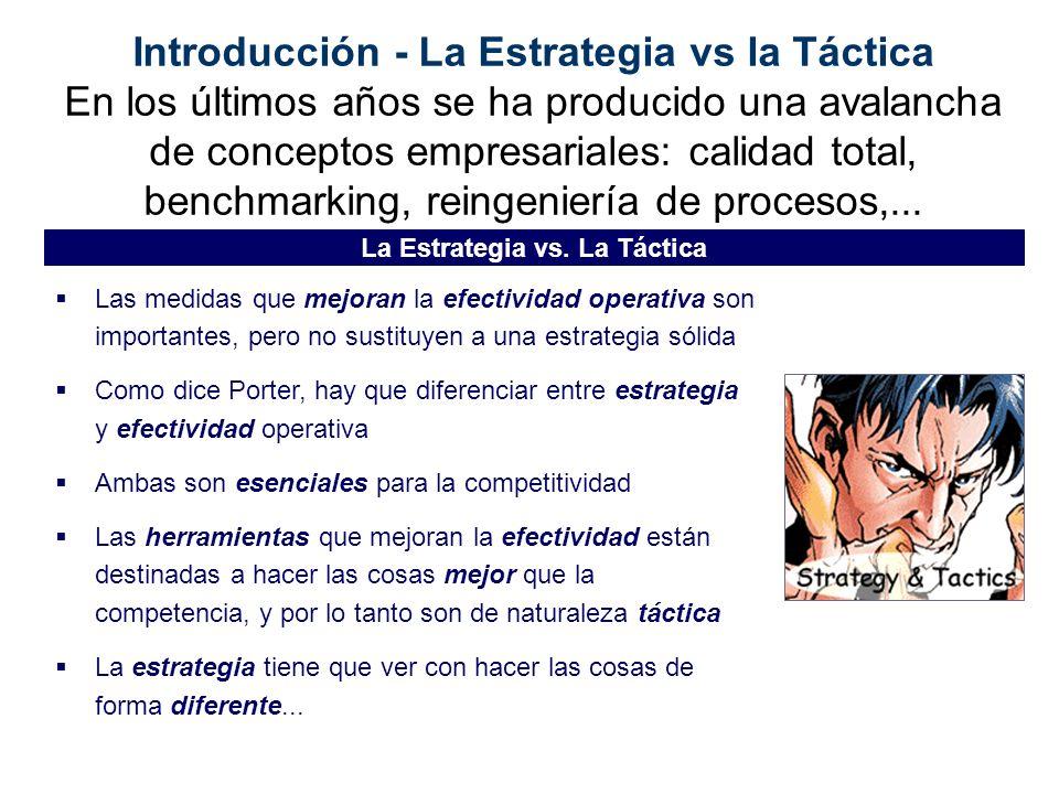 La Estrategia vs. La Táctica