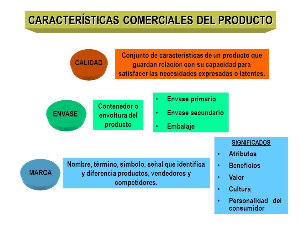 CARACTERÍSTICAS COMERCIALES DEL PRODUCTO
