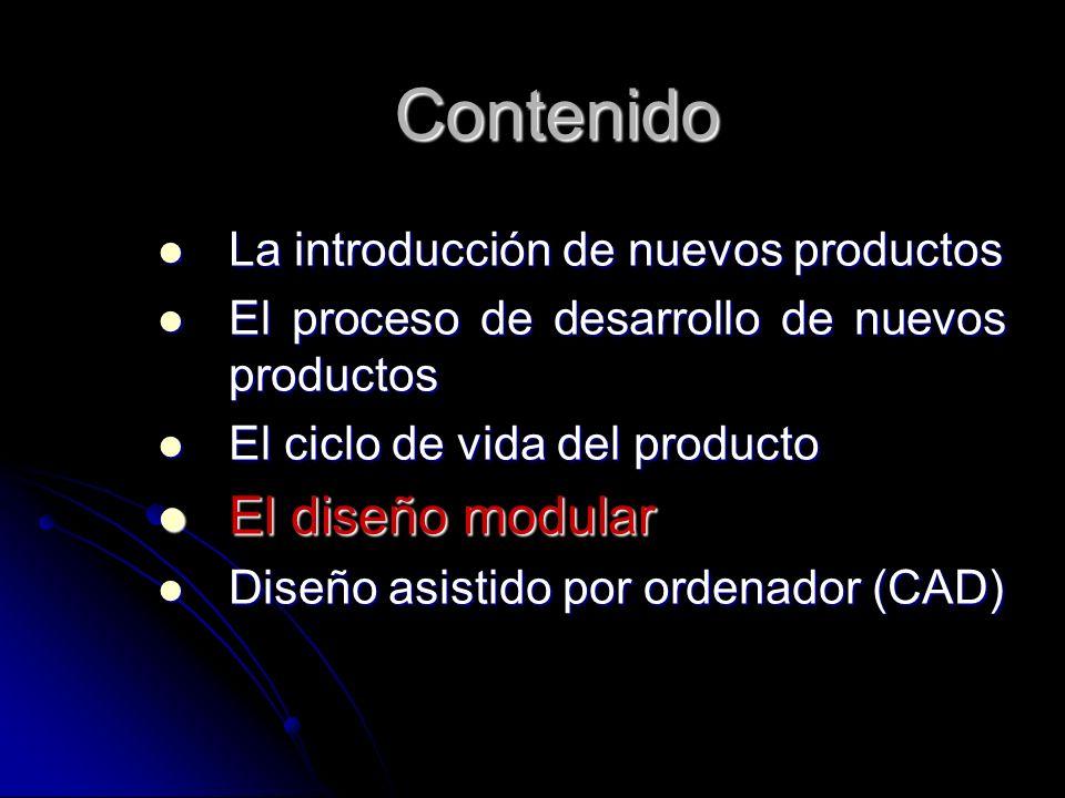Contenido El diseño modular La introducción de nuevos productos