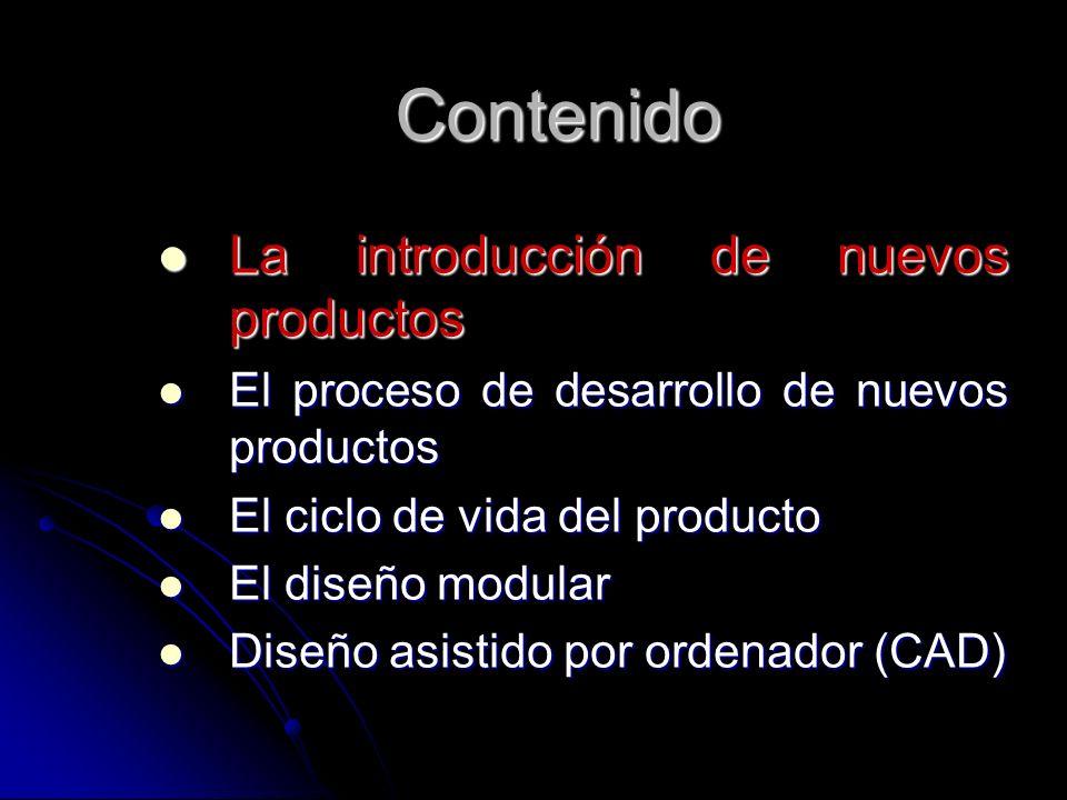 Contenido La introducción de nuevos productos