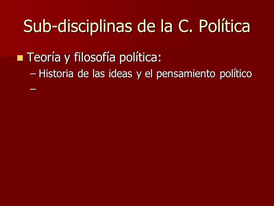 Sub-disciplinas de la C. Política