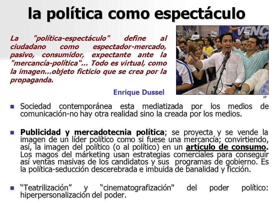 la política como espectáculo