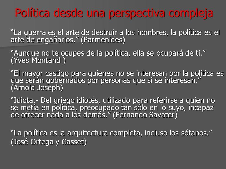 Política desde una perspectiva compleja