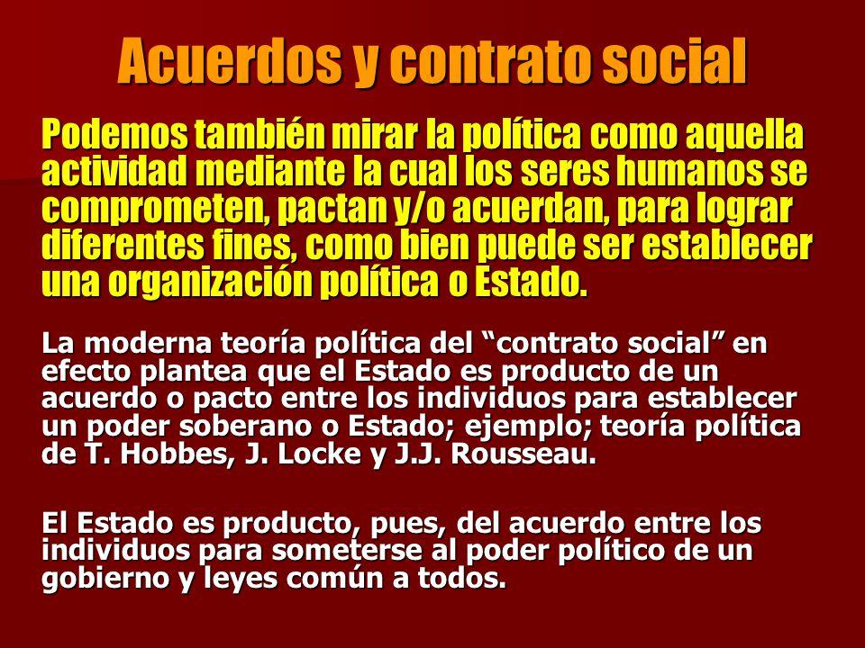 Acuerdos y contrato social