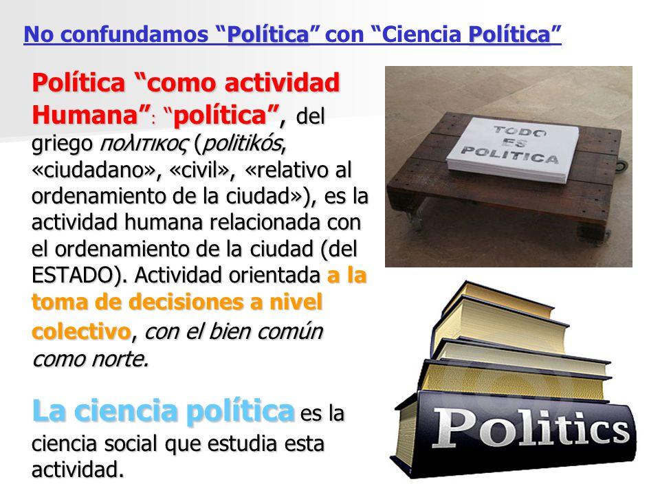 La ciencia política es la ciencia social que estudia esta actividad.