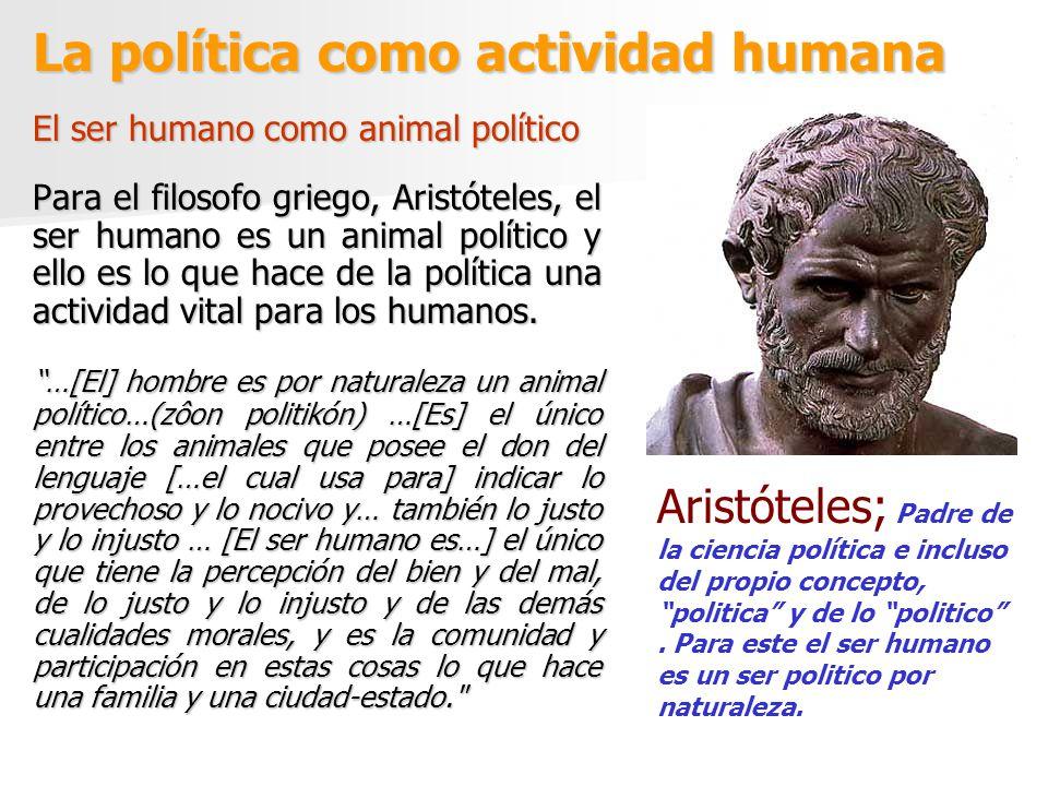 La política como actividad humana