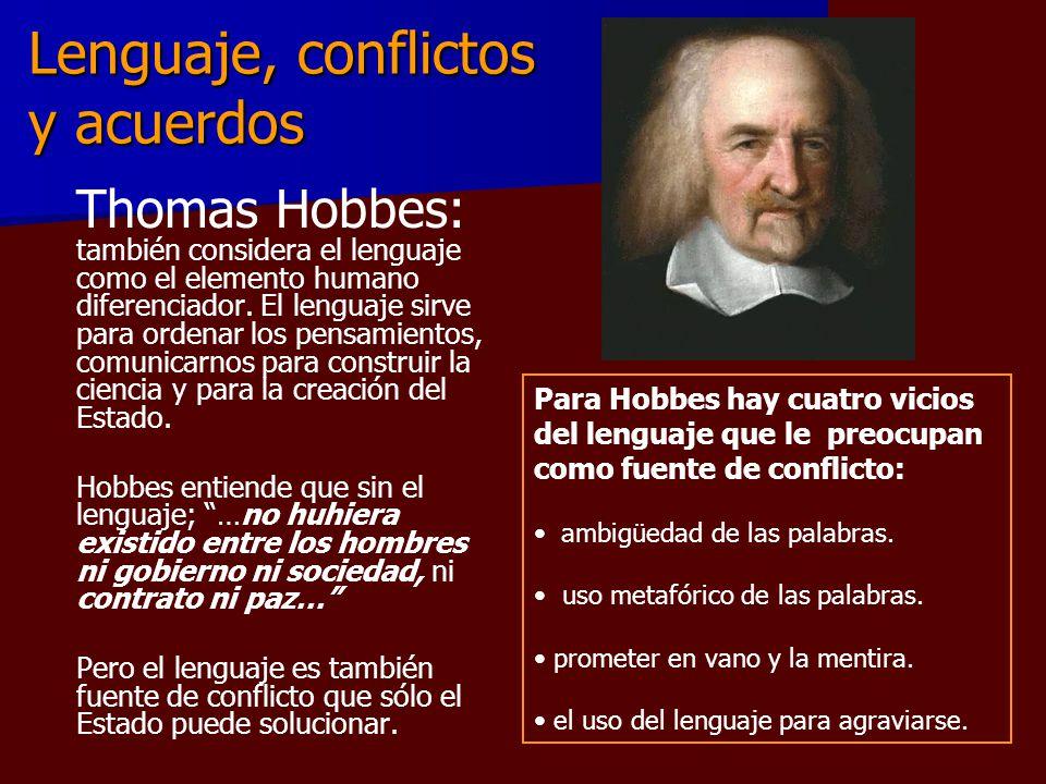 Lenguaje, conflictos y acuerdos