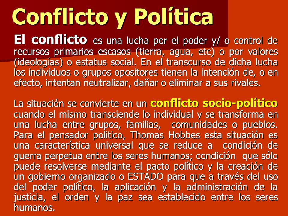 Conflicto y Política