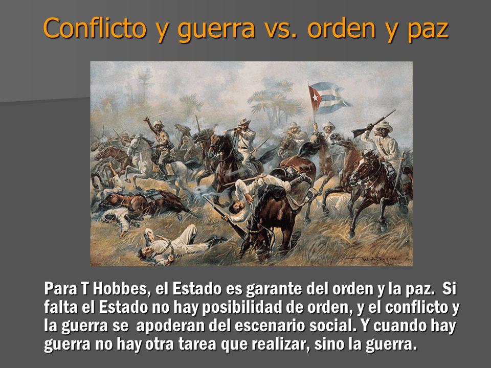 Conflicto y guerra vs. orden y paz