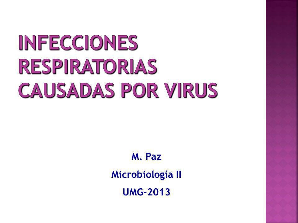 Infecciones respiratorias causadas por virus