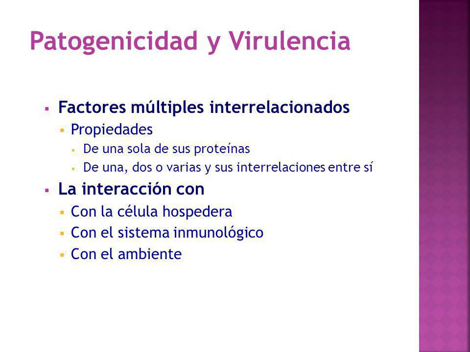 Patogenicidad y Virulencia