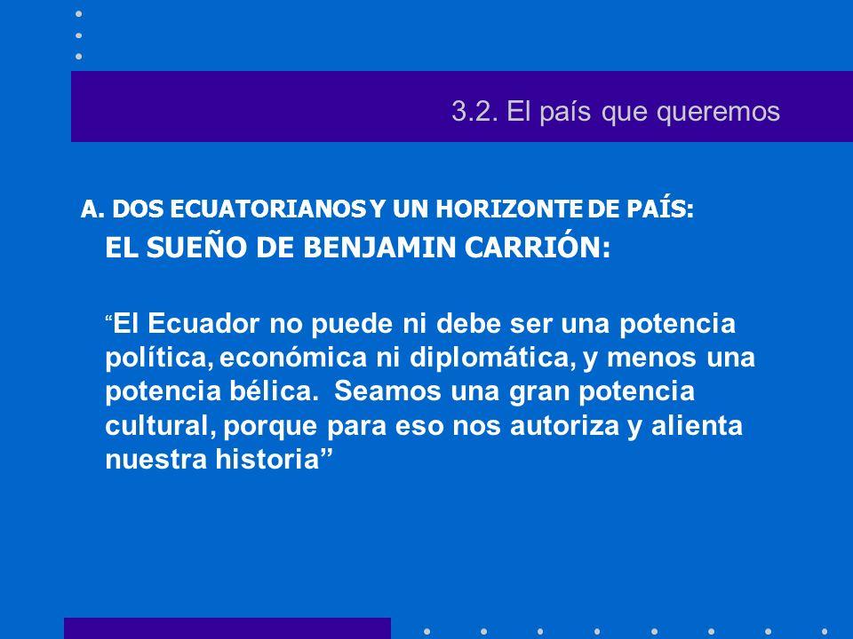 A. DOS ECUATORIANOS Y UN HORIZONTE DE PAÍS: