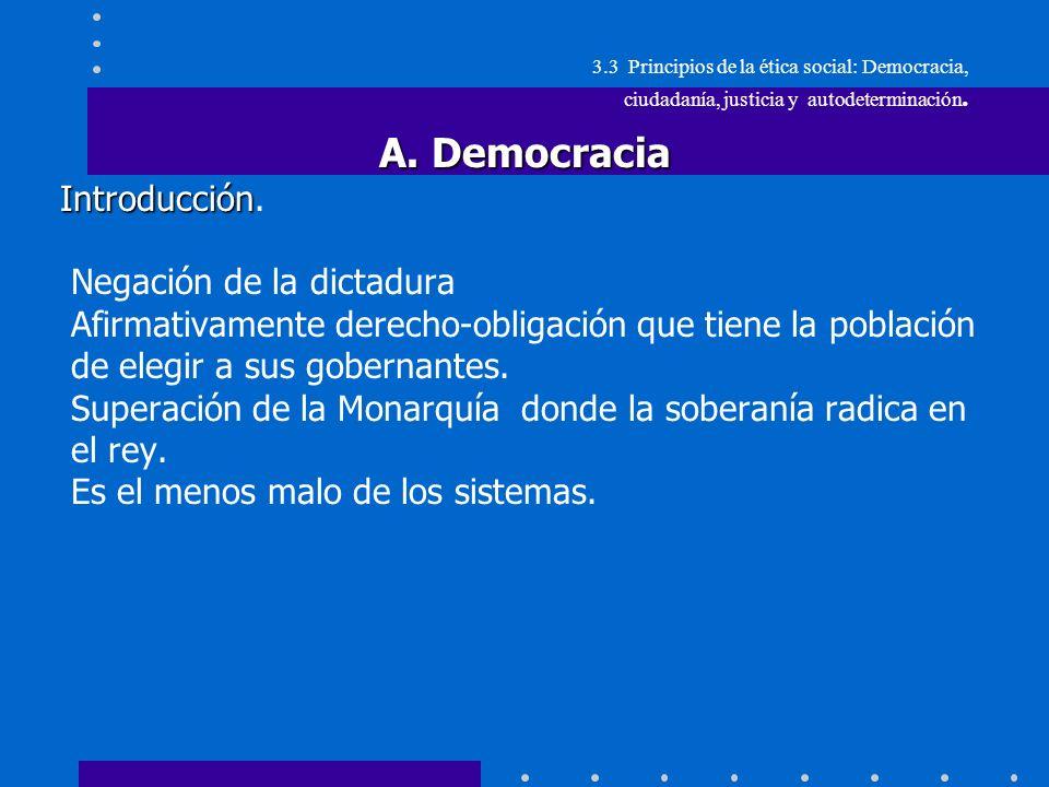 A. Democracia Introducción. Negación de la dictadura