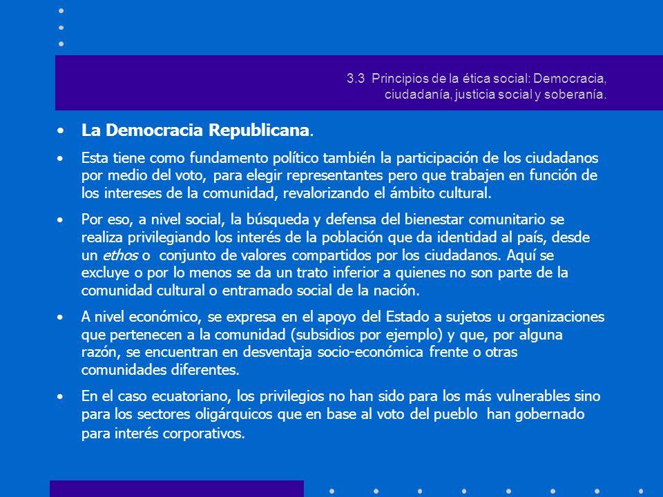 La Democracia Republicana.