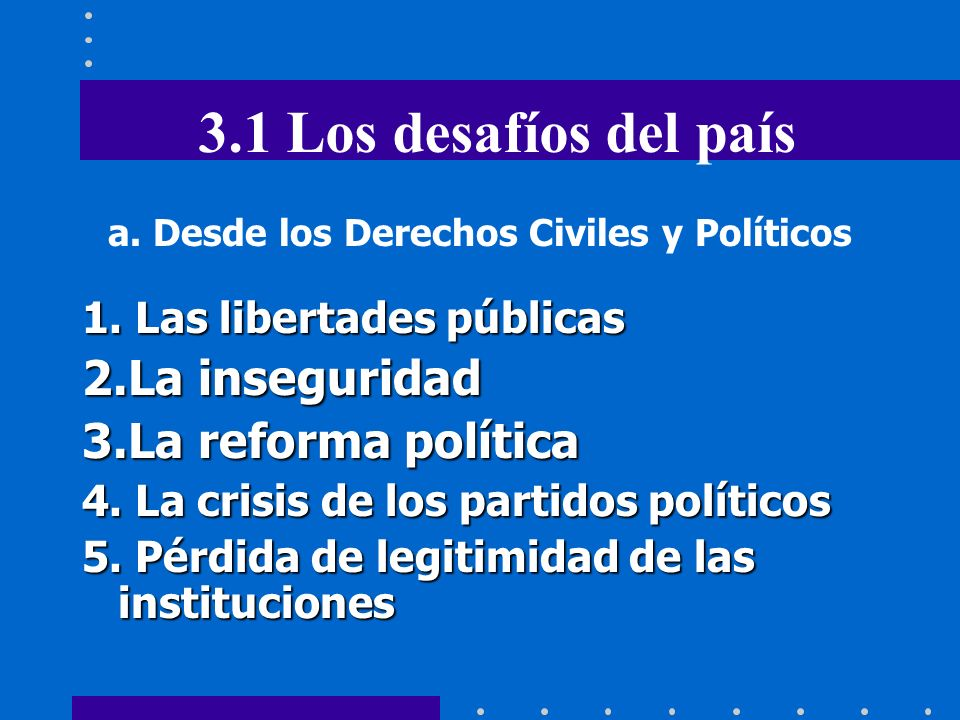 a. Desde los Derechos Civiles y Políticos