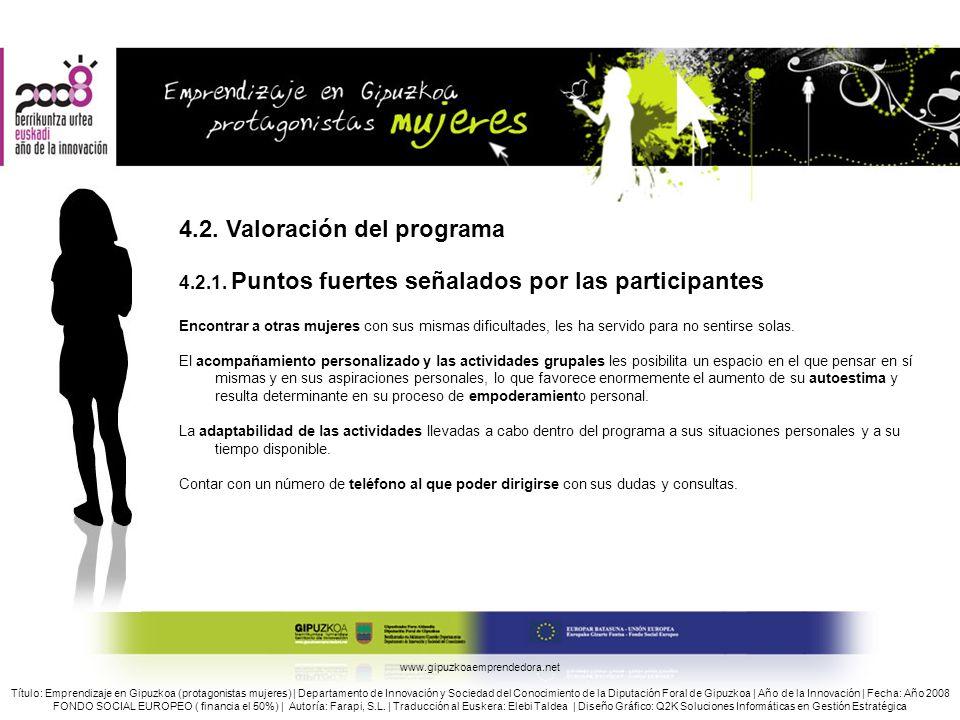 4.2. Valoración del programa