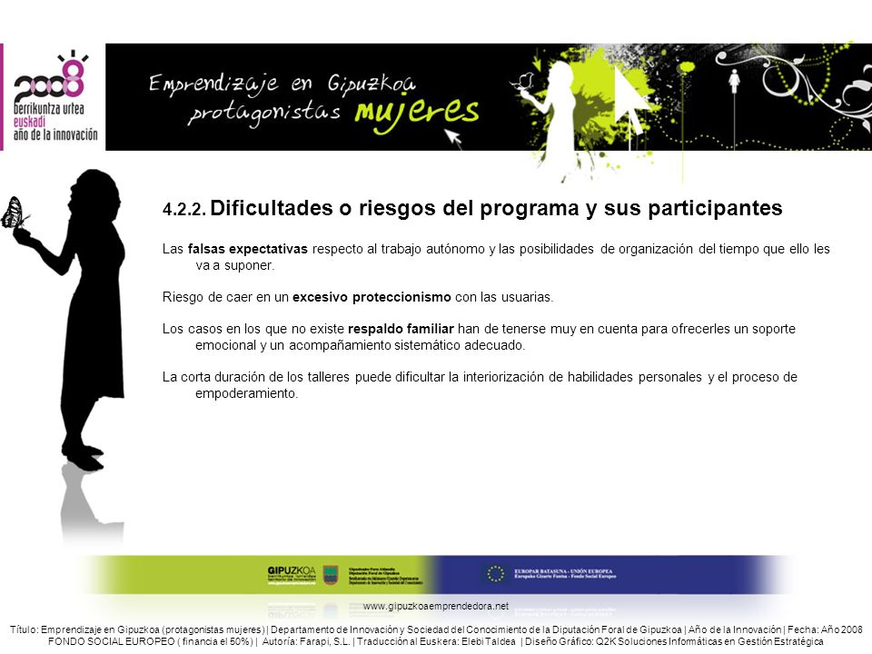 4.2.2. Dificultades o riesgos del programa y sus participantes