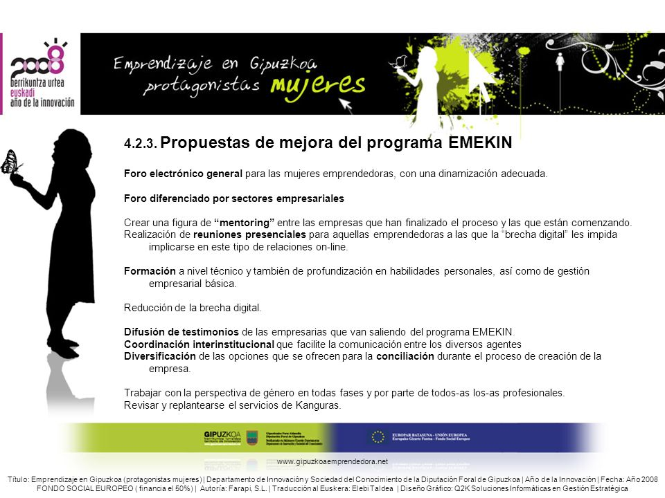 4.2.3. Propuestas de mejora del programa EMEKIN
