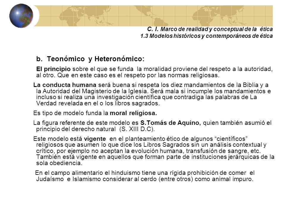 b. Teonómico y Heteronómico: