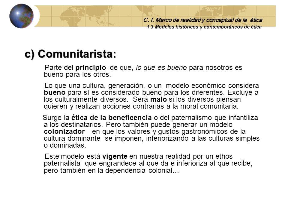 C. I. Marco de realidad y conceptual de la ética 1