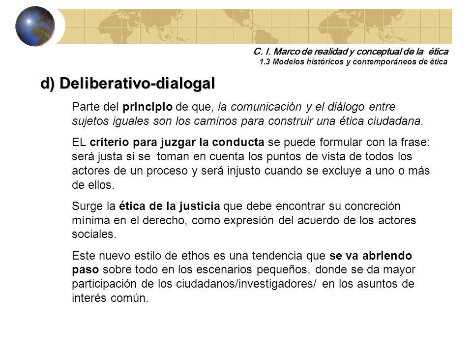 d) Deliberativo-dialogal