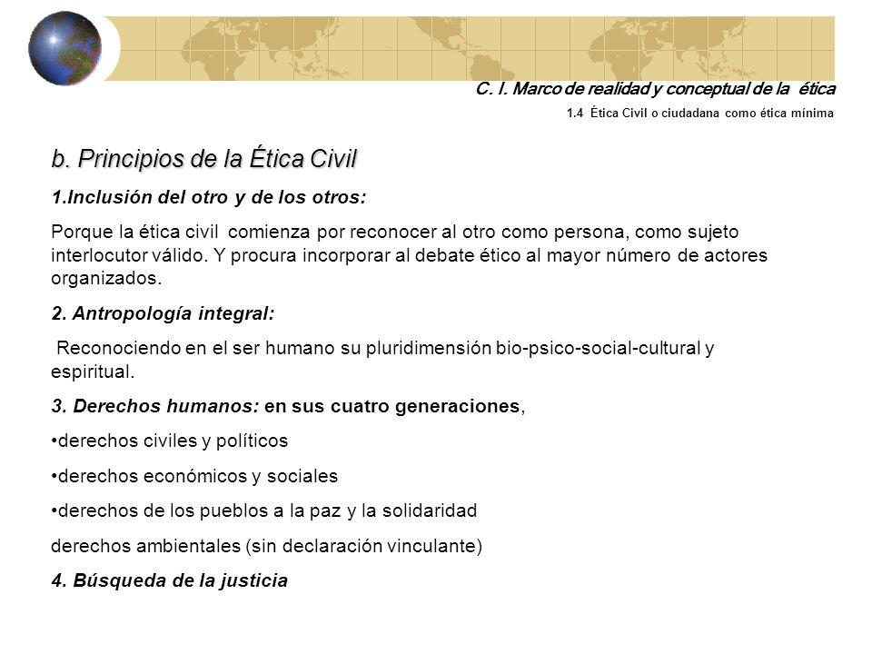 b. Principios de la Ética Civil