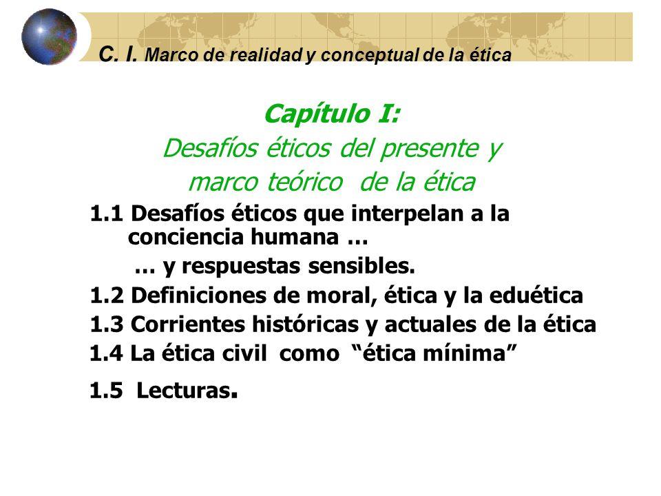 C. I. Marco de realidad y conceptual de la ética