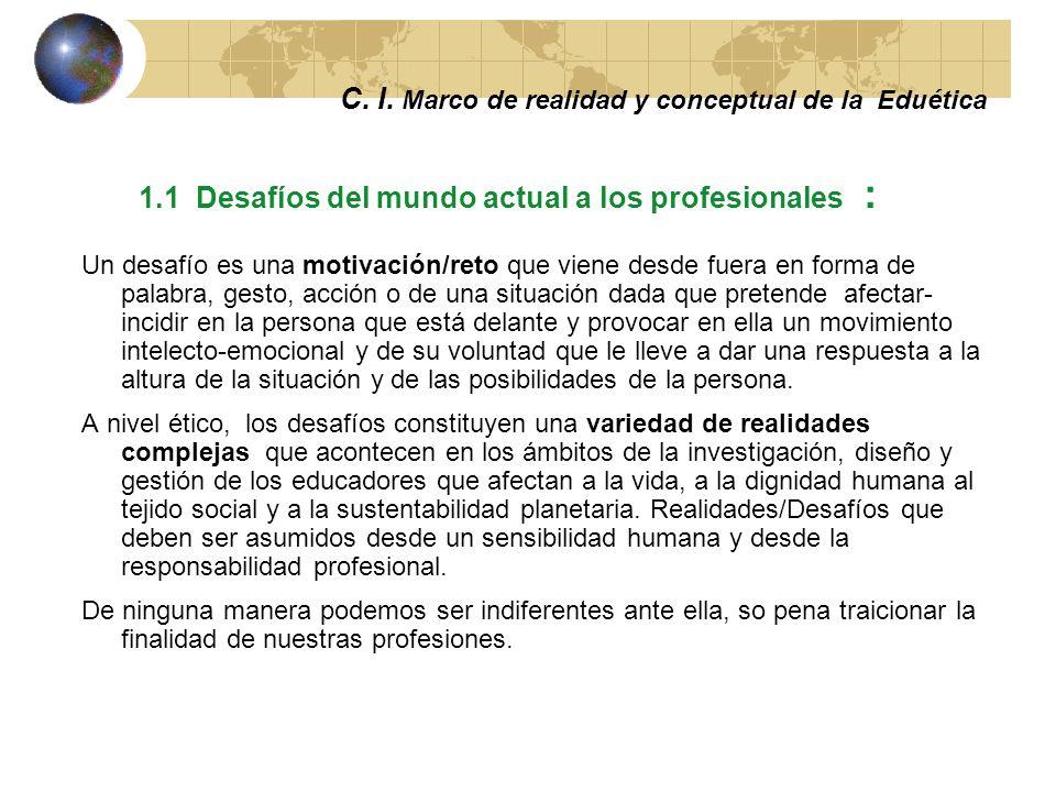 C. I. Marco de realidad y conceptual de la Eduética