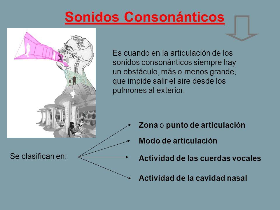 Sonidos Consonánticos