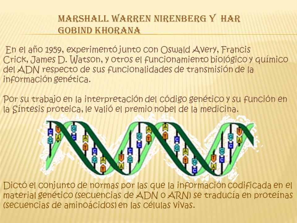 Marshall Warren Nirenberg y Har Gobind Khorana