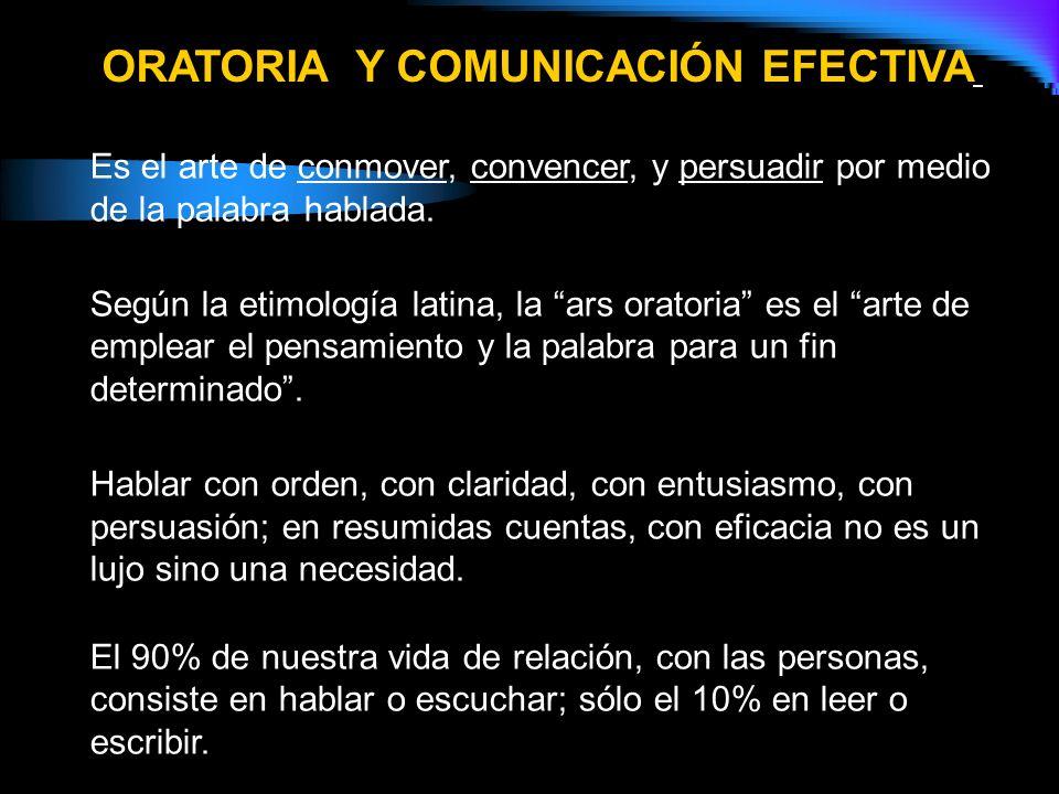 ORATORIA Y COMUNICACIÓN EFECTIVA