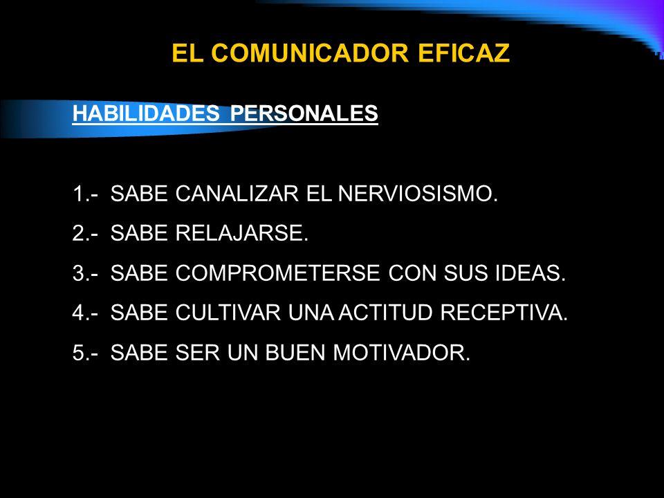EL COMUNICADOR EFICAZ HABILIDADES PERSONALES