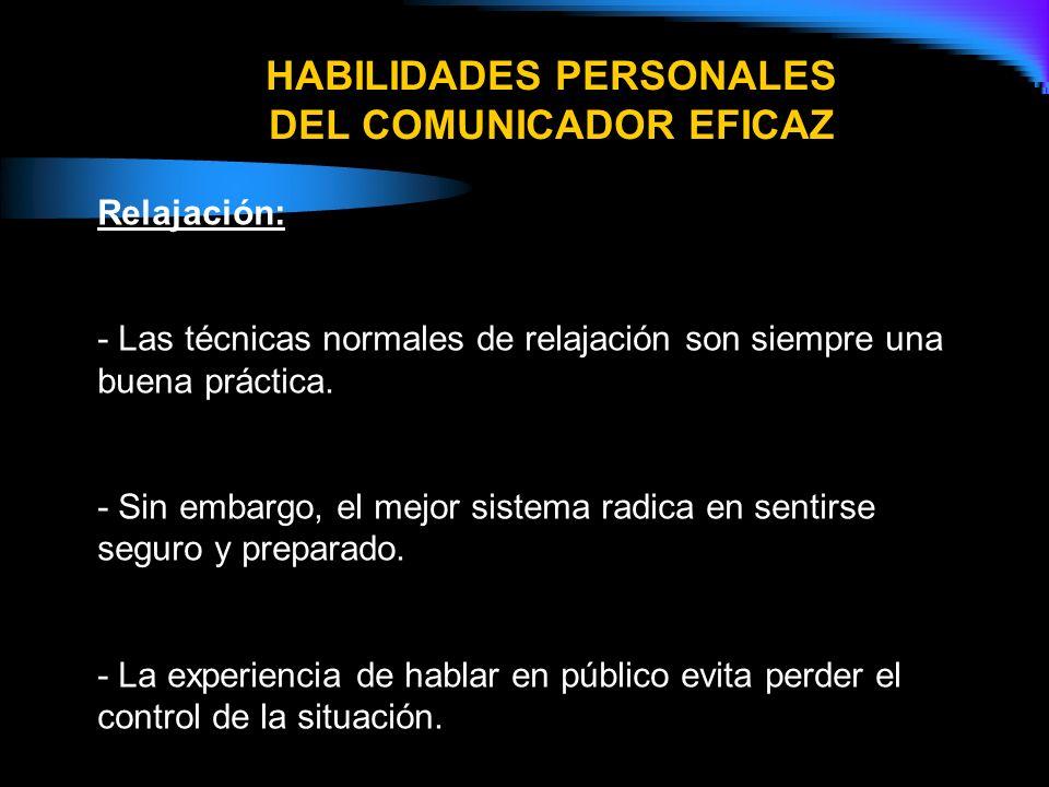 HABILIDADES PERSONALES DEL COMUNICADOR EFICAZ