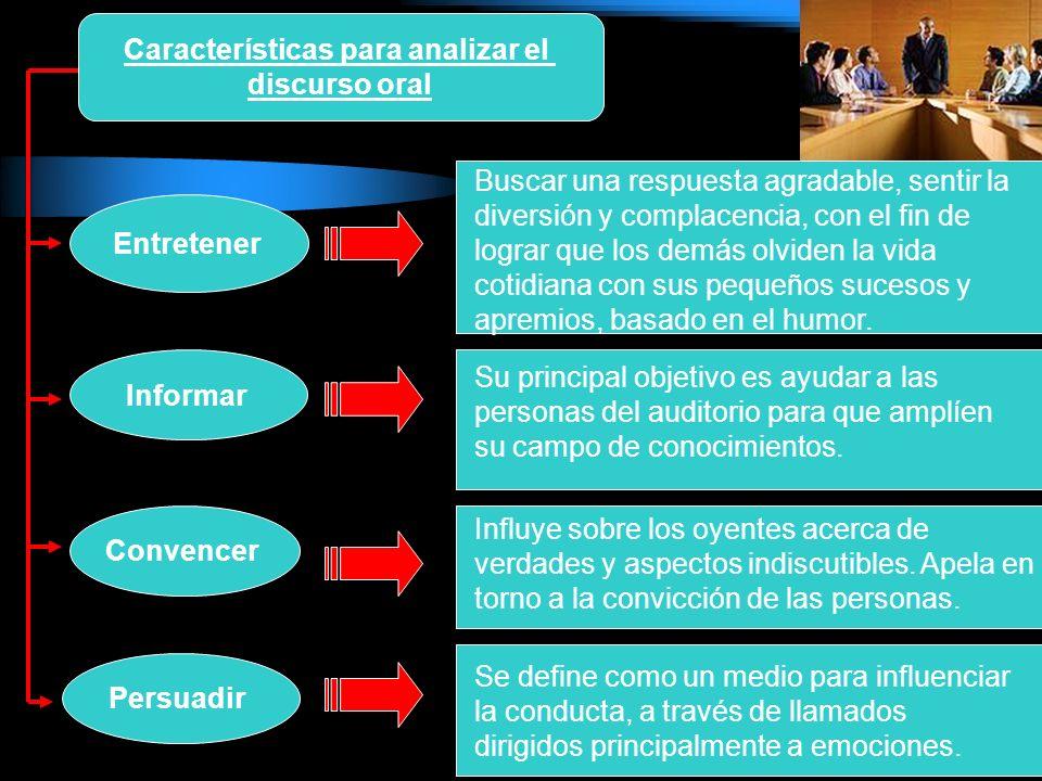 Características para analizar el