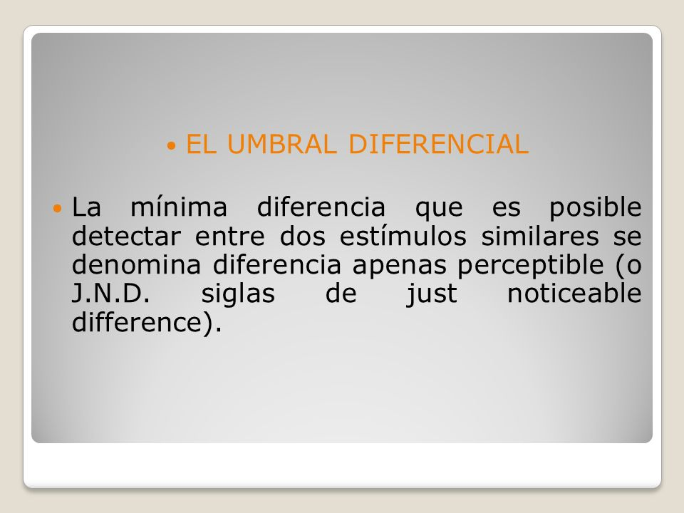 EL UMBRAL DIFERENCIAL