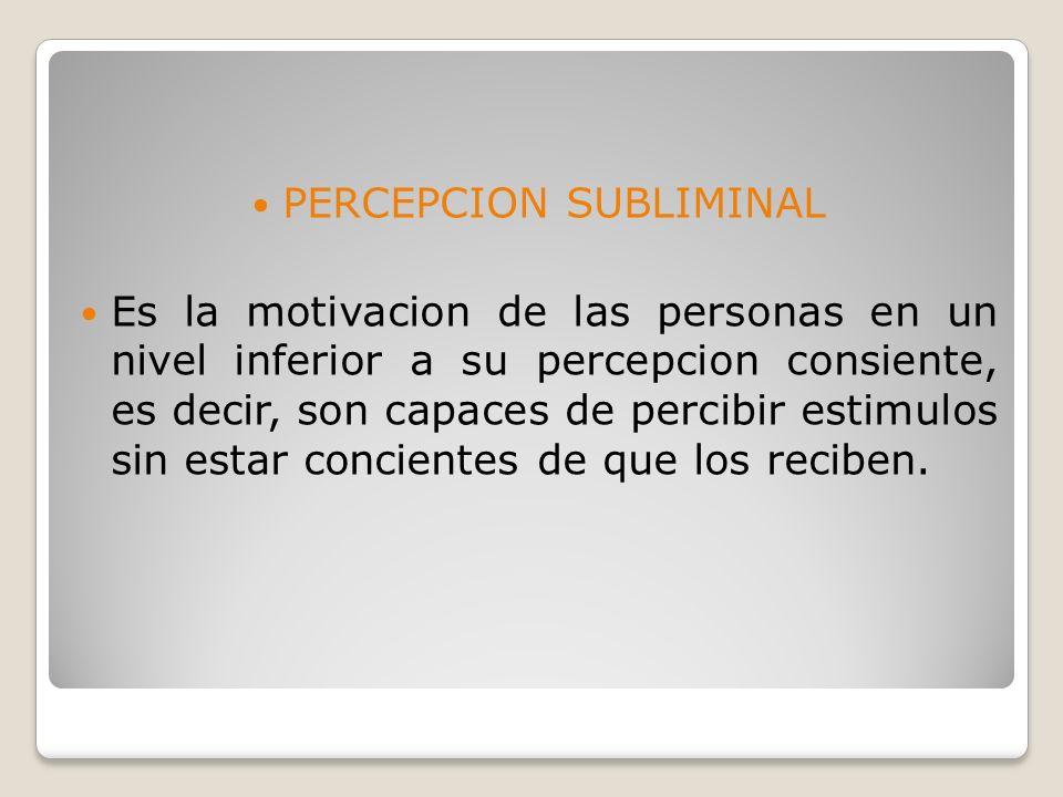 PERCEPCION SUBLIMINAL