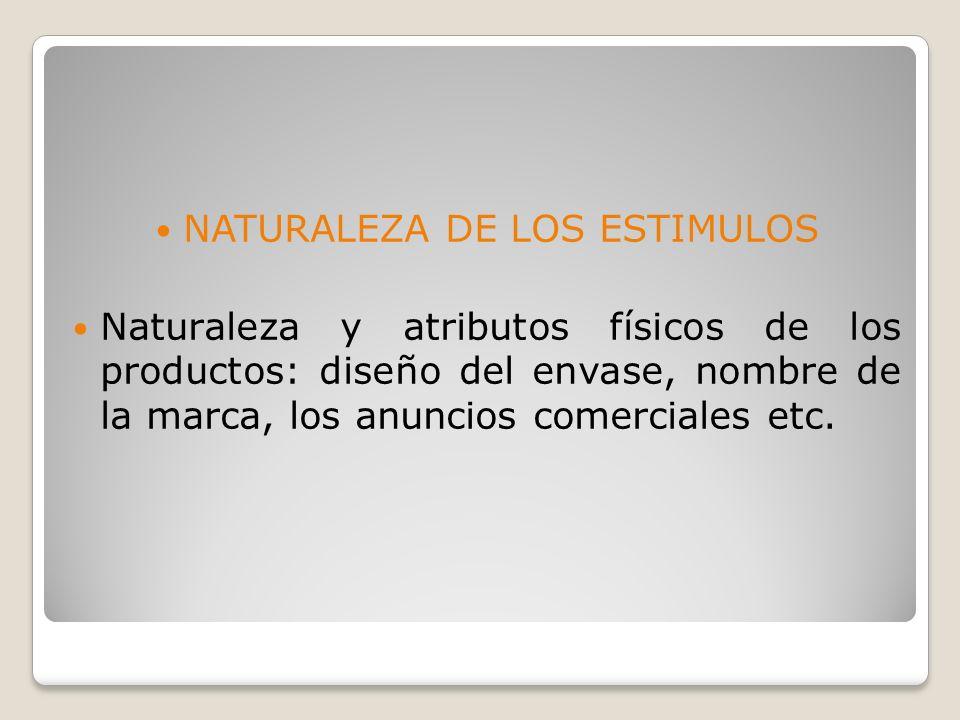NATURALEZA DE LOS ESTIMULOS