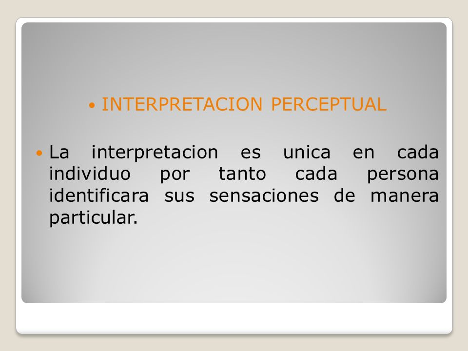 INTERPRETACION PERCEPTUAL
